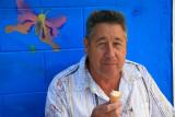 Enjoying an ice cream