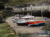 Boscastle harbour, low tide