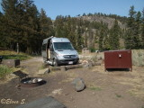 First night on the Yellowstone Park