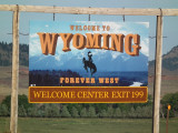 On the road of Wyoming...