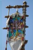 Garuda Kodi indicating Bhramhotsava commencement.JPG