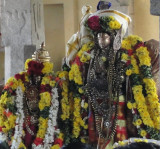 Kaliyan with Sri Perumal Tirupparivatam -Mangalasasanam after Tiruther Purappadu.JPG