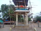 Vijay Dasam -ambu is fired from this naalu kaal mandapam by Sri Rajagopalan