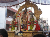 Sri Parthasarathy on the grand occasion of Thriunakshathiram of Sri KurathAzvAn - thEradhi theru.jpg