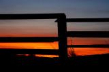Fence Framed Sunset