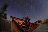 Star Trails over Observatory