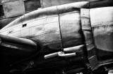 DC-3 Detail in Black & White