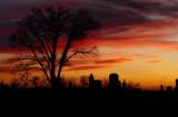 Sunset at Shepherd Cemetery