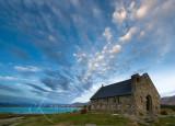 Church of the Good Shepherd clouds, Tekapo