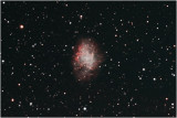 The Crab Nebula, M1, a supernova remnant in Taurus