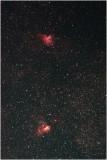 M16 in Serpens (top) & M17 in Sagittarius