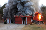 Dudley MA - Residential Barn fire; 10 Intervale Rd. - January 6, 2012