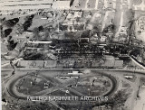 An aerial view of the Tennessee State Fairgrounds after the 1965 fire.