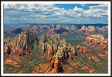Aerial View of Sedona's Red Rocks