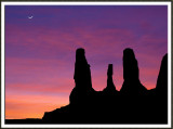 Three Sisters Sunset Silhouette