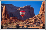 Hot  Air Balloon at Monument Valley