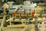 Gluing the two double warehouse track road beds