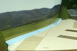 Last foam filler cut to fit (in rear)
