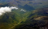 farm between Beinn nan Aighenan and Meall Garbh Mountain Scottish Highland