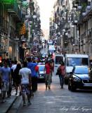 crowded street in Barcelona