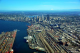 Aerial Seattle and Port of Seattle