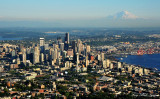 Seattle Skyline and Mt Rainier