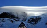 lenticular and turbulence top Mt Rainier