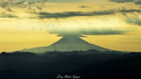Mount Adams with lenticular and cap clouds