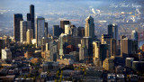 Downtown Seattle in morning light