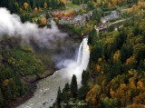 Snoqualmie Falls with fall colors