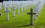 endless crosses, Normandy American Cemetery