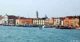 Santa Maria della Pieta and Venice busy waterfront
