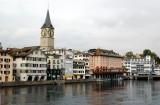 Zurich Storchen Hotel and St Peter Church