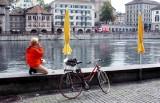 short break along Limmat River Zurich