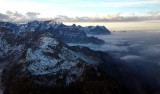 looking to the west over Alps