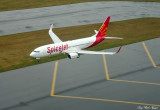 SpiceJet 737 at Boeing Field