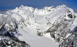 Columbia Peak, Monte Cristo Peak, Kyes Peak, Columbia Glacier and Blanca Lake