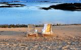beach chairs, Makalwa Bay, Hawaii
