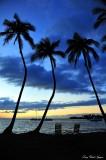 waiting for boats, Anaehoomalu bay beach park, Hawaii