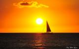 sailing into sunset, Pauoa Bay, Hawaii