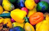 discard fruits and vegetables, Kona farmers market, Hawaii