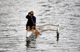 morning rowing in Ala Wai River, Honolulu, Oahu, Hawaii