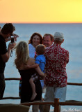 Family Affair at Hawaiian sunset, Fairmont Orchid, Hawaii