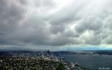 Unstable air over Seattle, Elliott Bay, WA