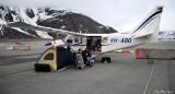 GA8 Airvan pilots, Valdez Airport, Alaska