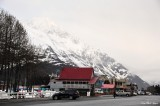 Shops on Harbor Drive in Valdez, Alaska