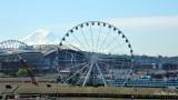 Seattle Ferries Wheel,  Safeco Field,  Mount Rainier, Seattle