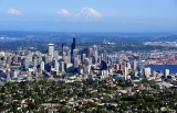 Queen Anne, Seattle Skyline, Space Needle, Boeing Field, Mount Rainier, Washington