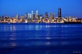 Seattle Skyline and waterfront, Elliott Bay, Seattle