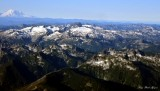Mt Dainel,, Mt Hinman, Overcoat Peak, Chimney Rock, Mt Rainier, Cascade Mountains, Washington
